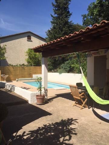 Chambre paisible sur jardin et piscine