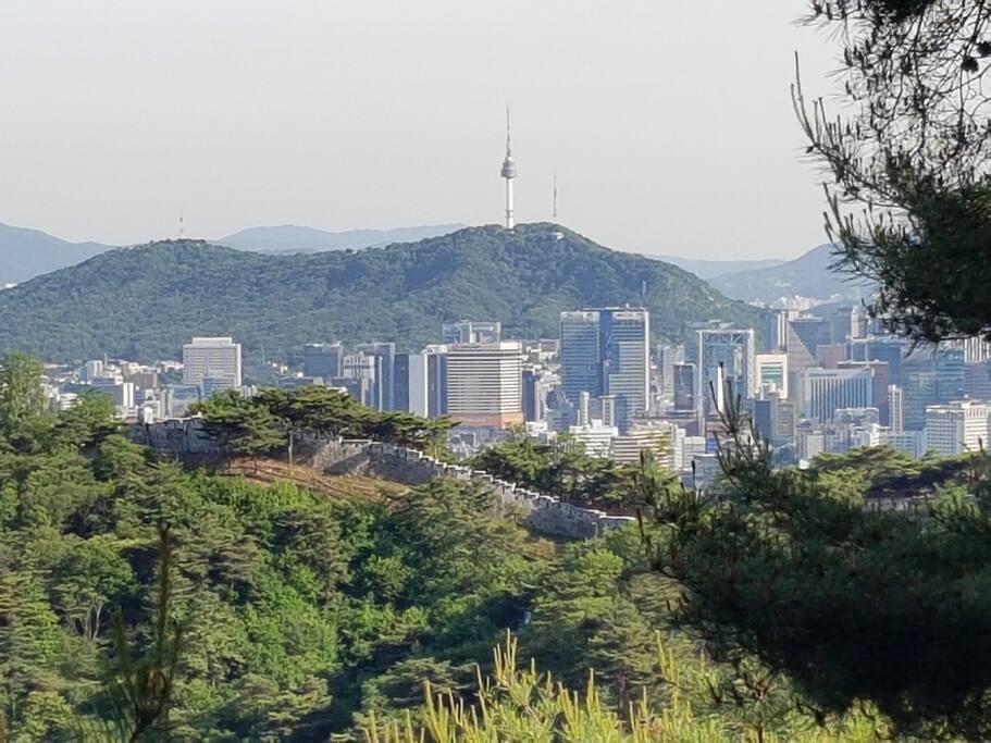 집근처 와룡공원에서 본 남산타워