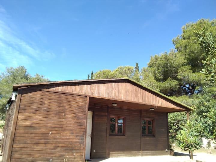 Chalet de Madera en MasMiró Biofarm - Wooden House