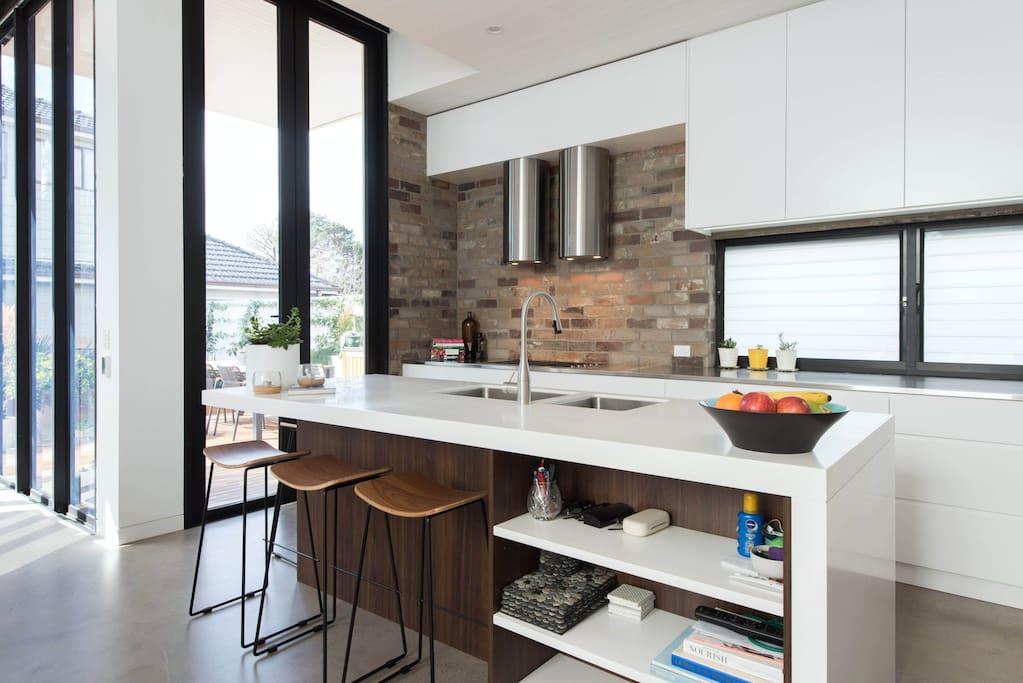 Industrial designer kitchen