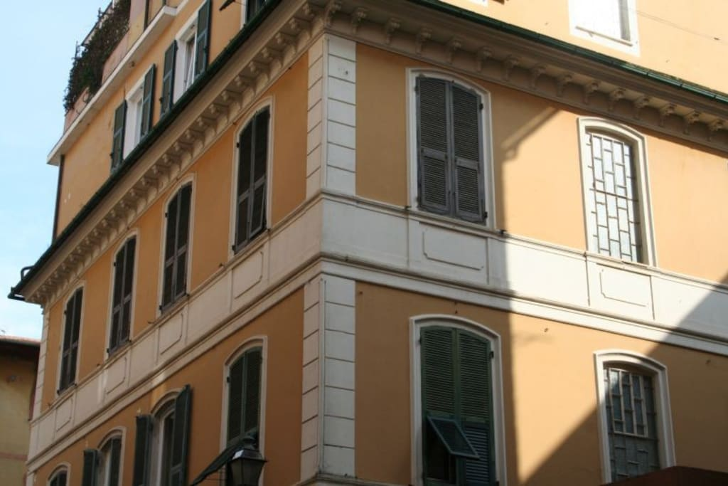View of the apartment from the street
