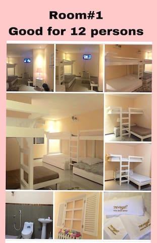 NNYL Baler Beach Front Room#1 good for 12 pax