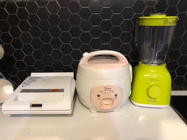 toaster, magic jar, blender