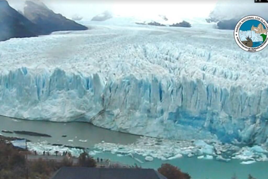 a 80 km del Glaciar perito Moreno