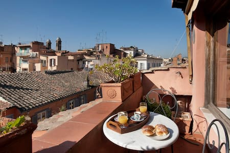 CHARMING TERRACE SPANISH STEPS (F1) - Roma - Apartment
