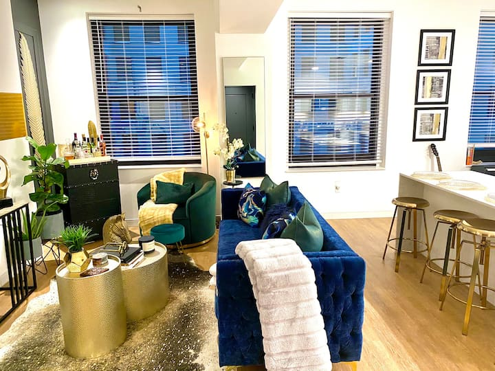 HighRise Luxury 1 BdRm Apt W/Valet Parkng, Downtwn