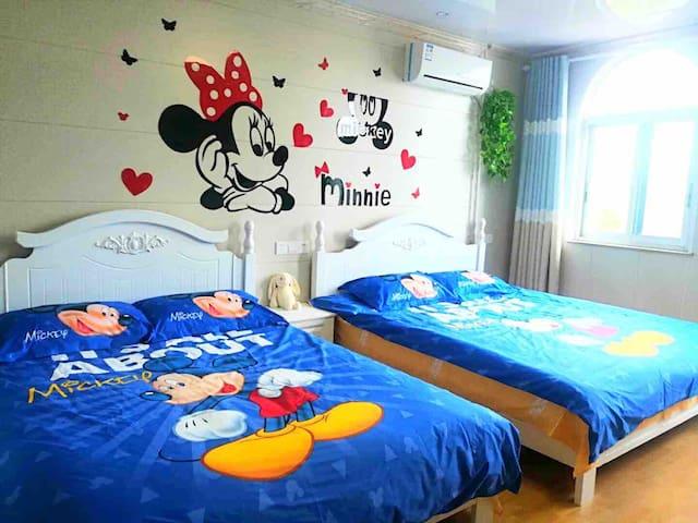 【乐园接送/含早】米奇米妮乐园主题双床房