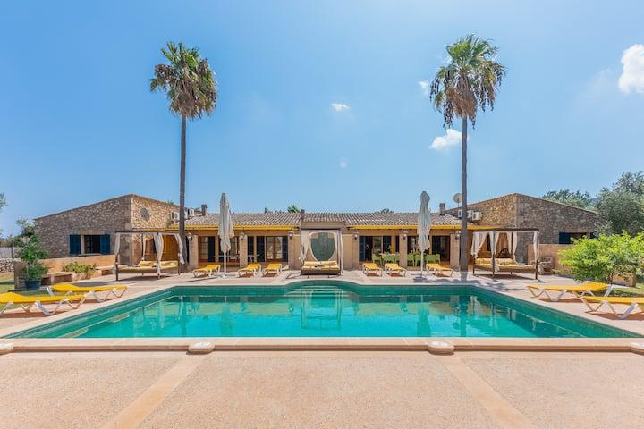 NEW!Sa Torre:Amazing finca with pool, gym & garden