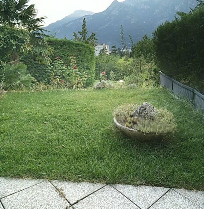 il giardino da cui si gode la vista panoramica sulla città