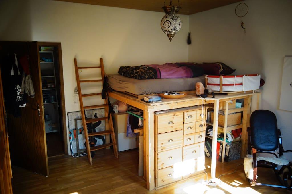 Schlafzimmer Nr. 1 Hochbett
