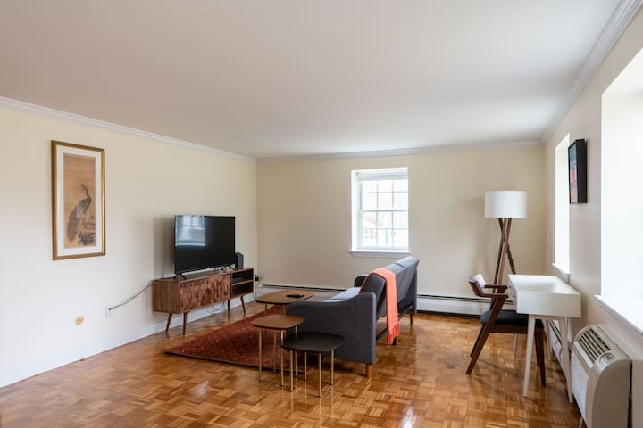 Furnished 1BR near Boston w/ Parking + Pets OK