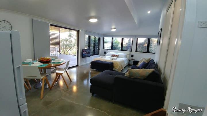 Studio Retreat in the Forest+ Private 40sq Terrace