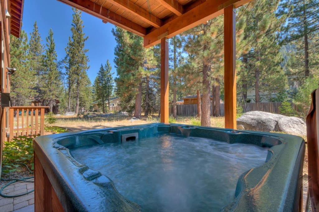 Nothing says relaxation quite like a good soak in an outdoor hot tub.