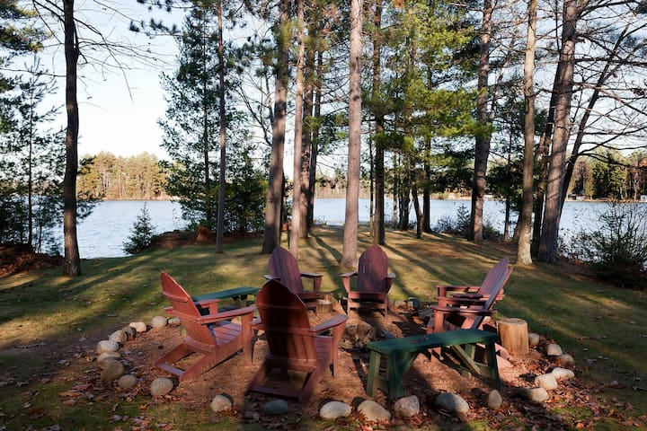 NEW LISTING! Secluded, waterfront log cabin w/game room, dock, fire pit & deck