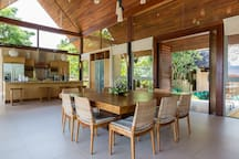 Avasara Residence at Panacea Retreat - Dining area and kitchen design