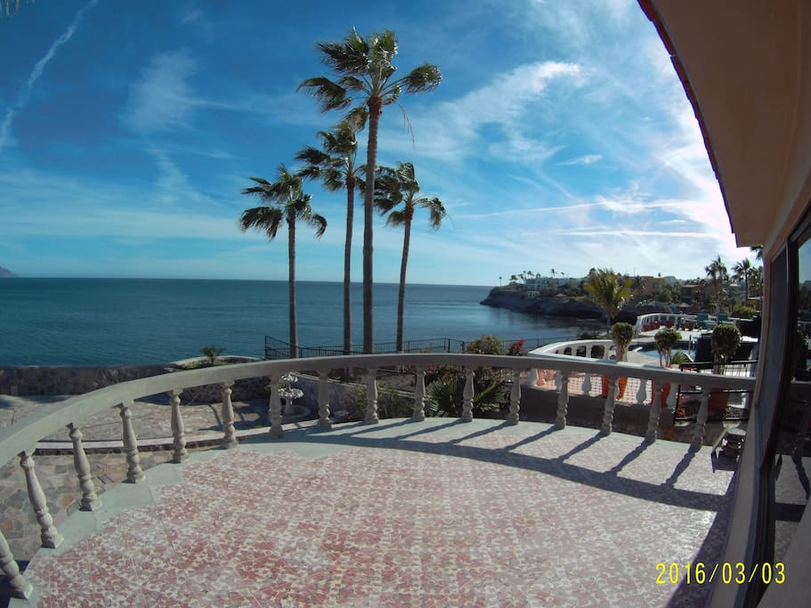 Balcony - Great place to watch sunrises and Sunsets as well as dolphins and boats.