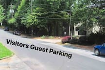 Free parking for visitors. Guest of visitors must park here