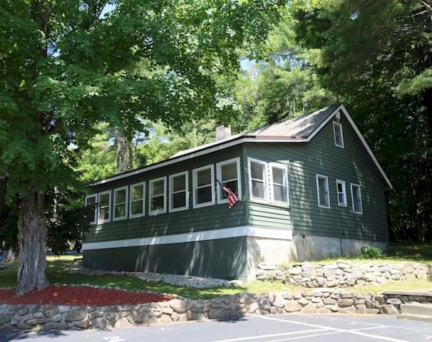 Lake George home near village, pool and fireplace!