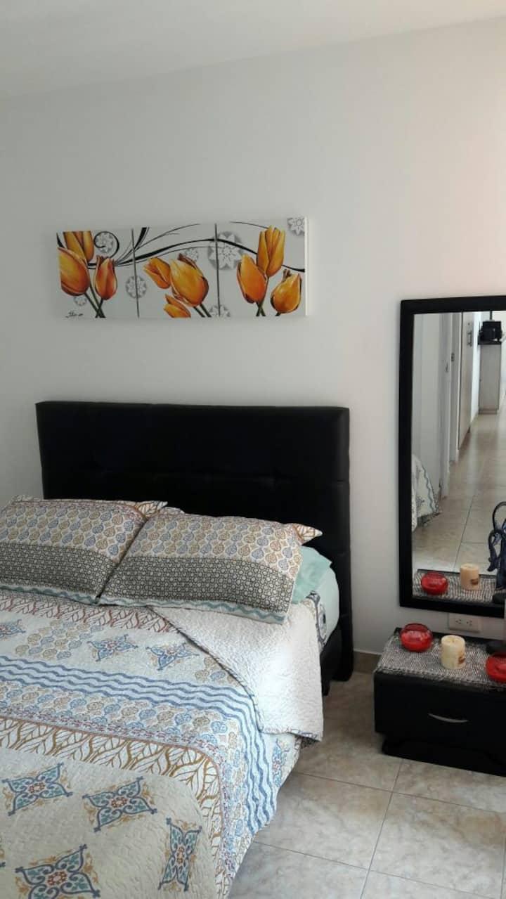 Habitacion Con BAÑO PRIVADO en Lindo Apartemento