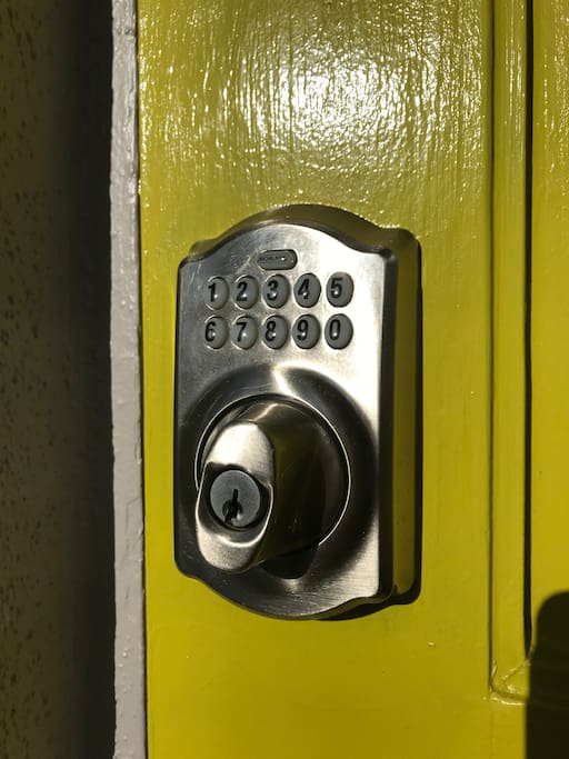 Convenient keyless code for easy entry