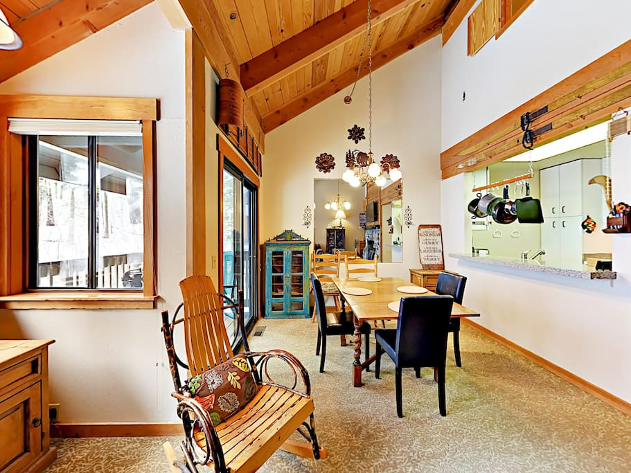 The open living and dining space offers a great flow for entertaining.
