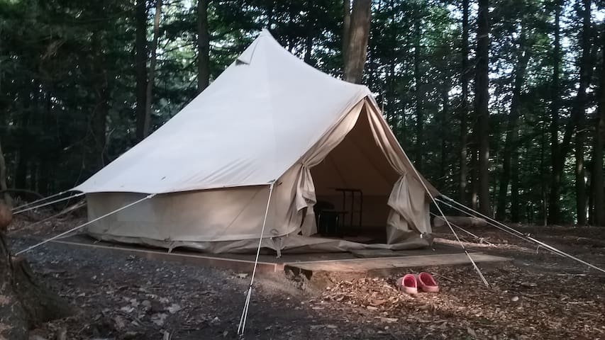 Watermelon glamping tent