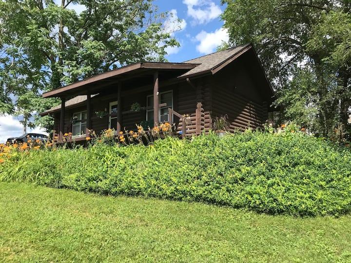 Quaint log cabin