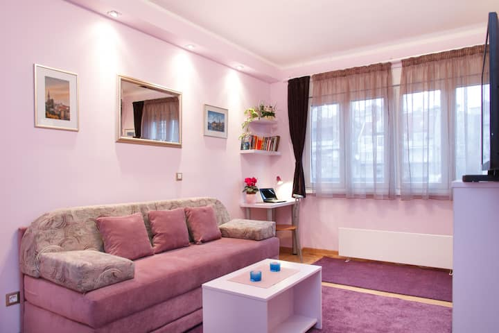 COMFY - Adorable violet studio in the city center