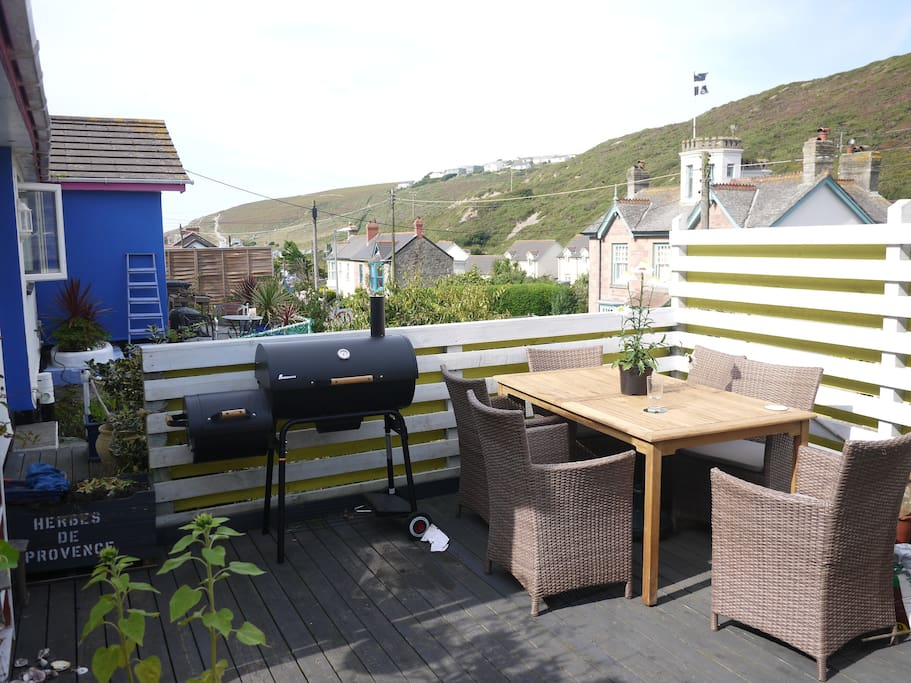 Decking with BBQ