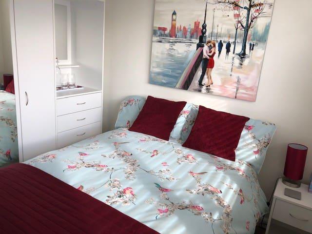 Contemporary double bedroom in West Chippenham