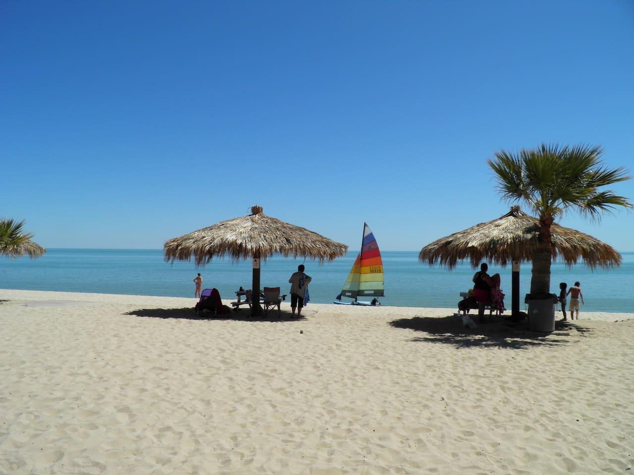 Seaside Hotel San Felipe Baja California  Bungalow Kitchen Suite #55