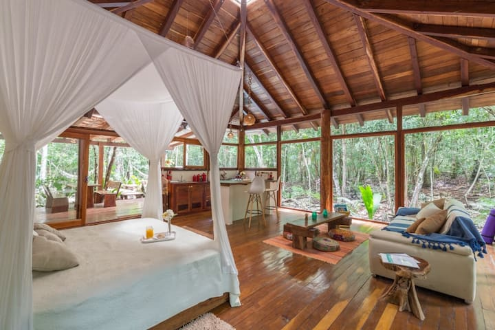 Eco Cabin Pepem with Private Pool at the Jungle