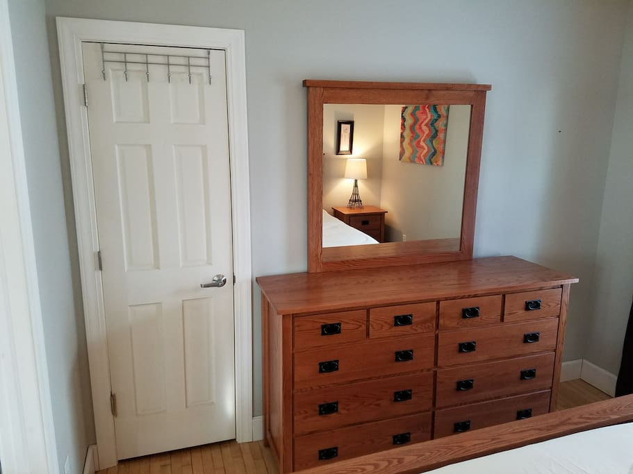 Dresser and closet in master.