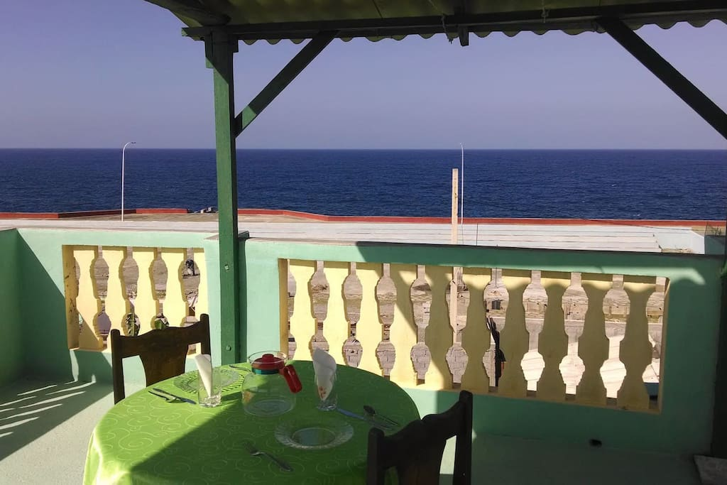 Taste a typical mojito or a refreshing natural juice enjoying the amazing view.