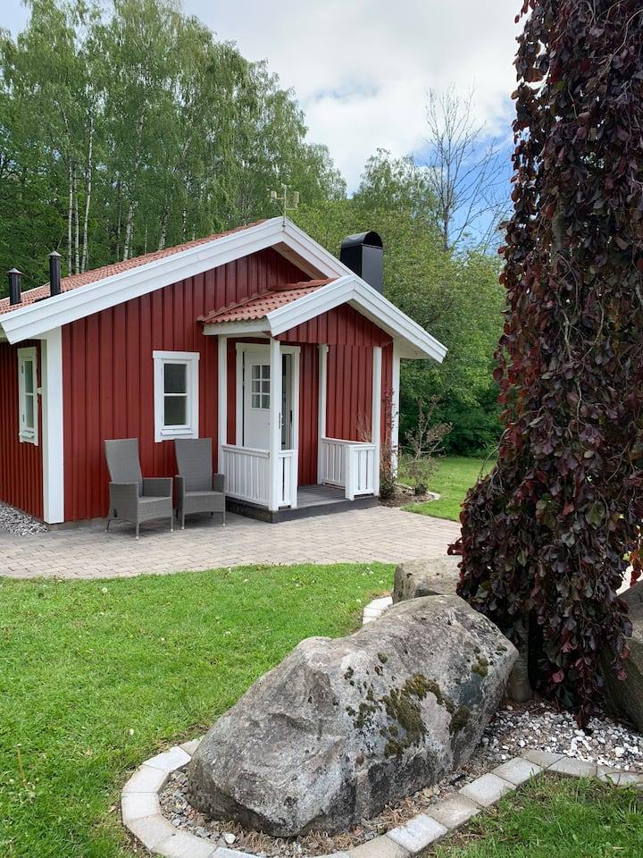 Mysig stuga utanför Borås.