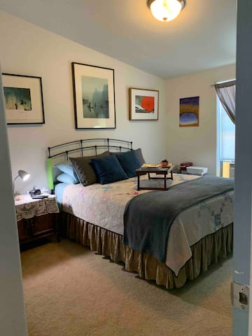 Private bedroom with added touches