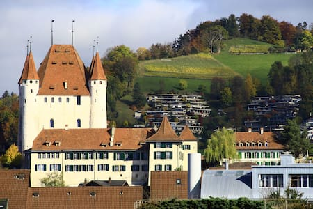 Central double room & amazing view - Thun - Byt