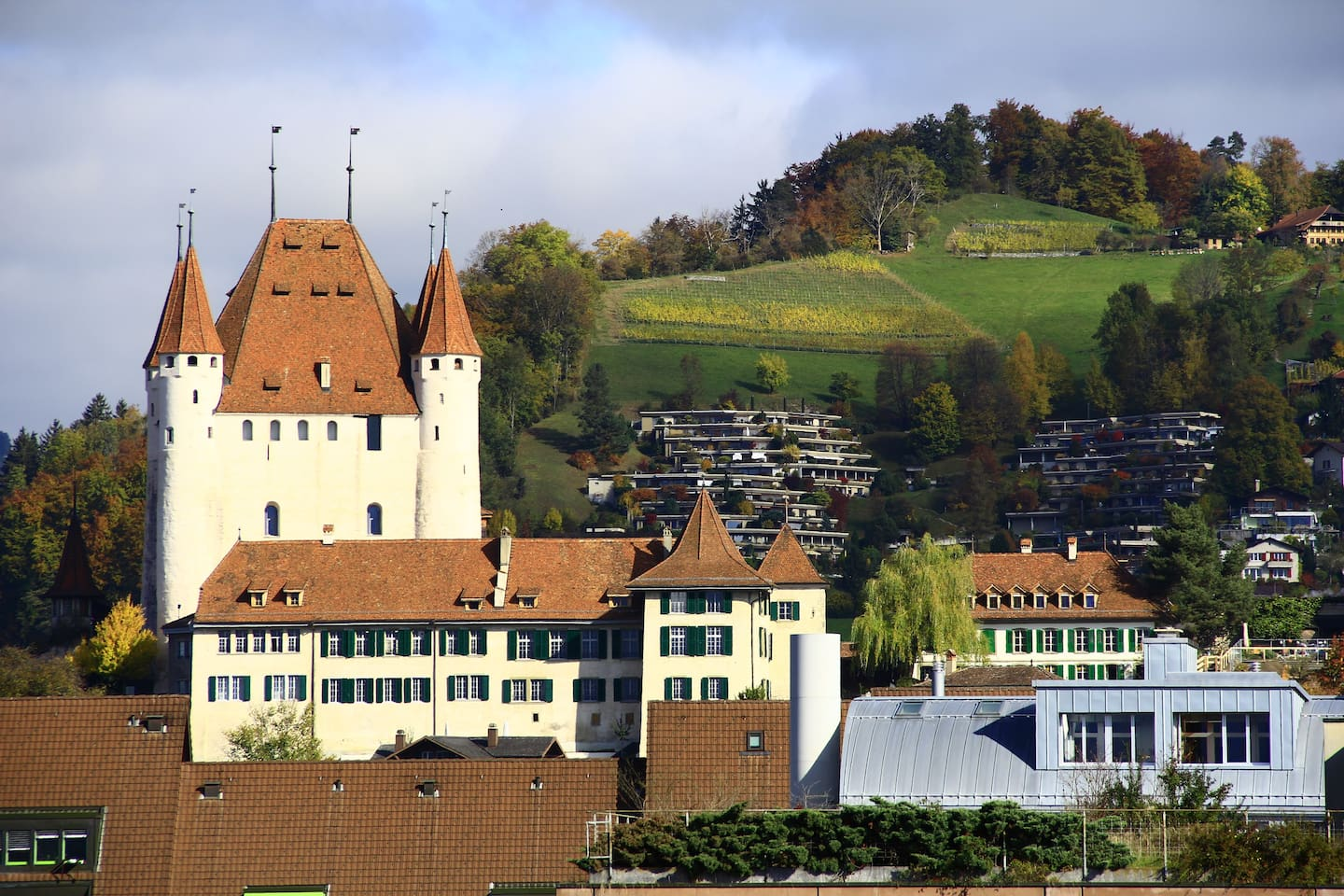 View from your bedroom on the old Castle of Thun