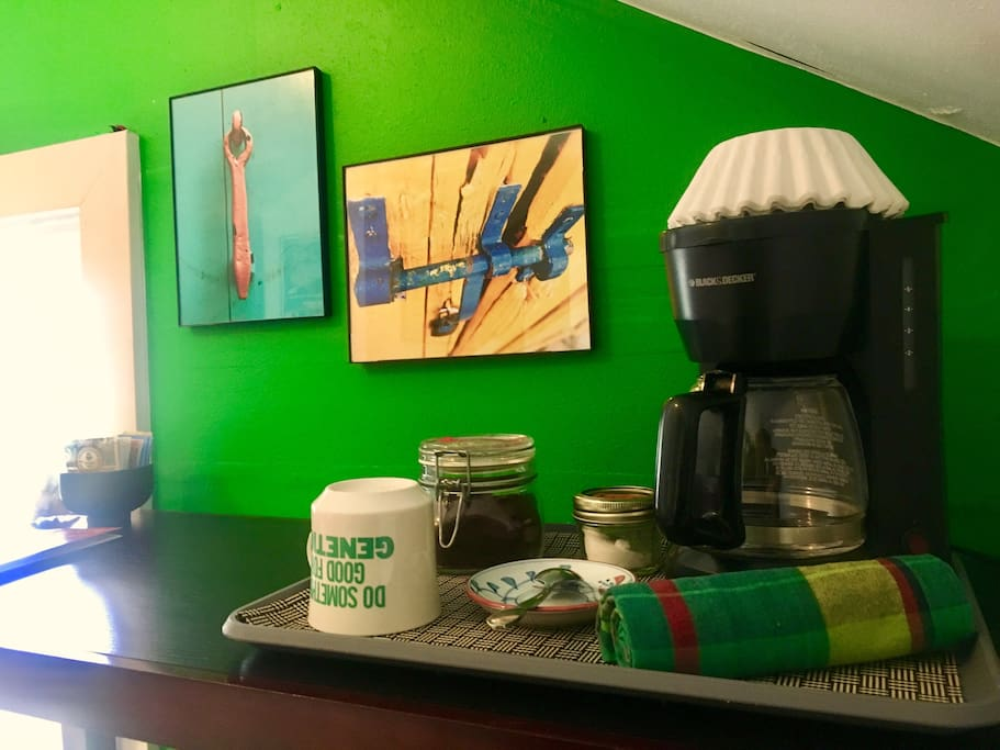 Have a nice warm cup of joe right in your room.