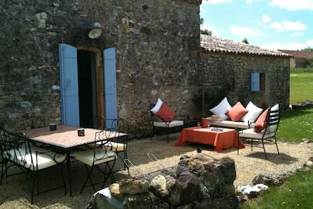 Farmhouse (4-6), heated pool, satellite wifi & TV - Beaumont-du-Périgord