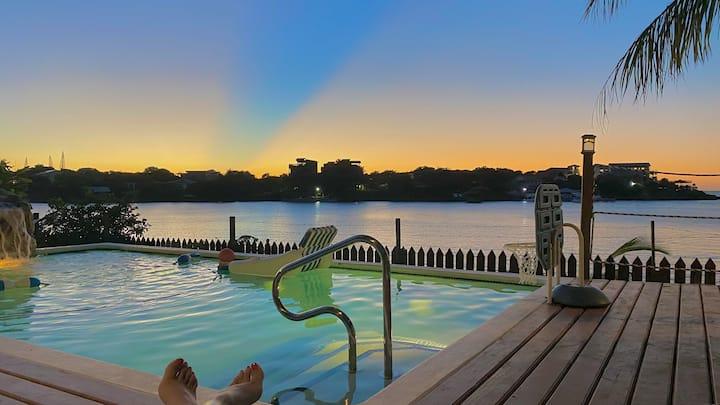 Casa puesta del sol te espera para tus vacaciones