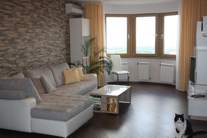 Panoramic Room (28м2) in 5 minutes to subway - Moscow - Apartment