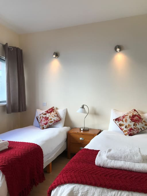 The twin room - a space dedicated for guests