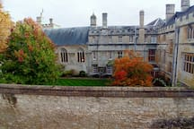 View of Jesus College from the Red room