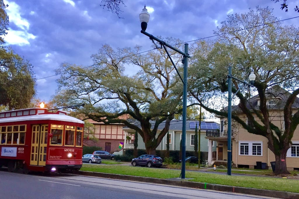 City Park/Museum streetcar line runs in front of the house.