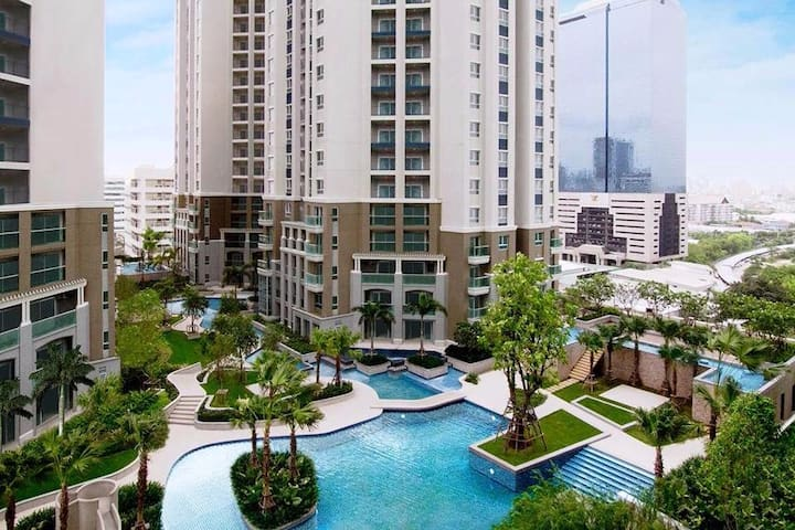 Luxury two bedrooms /Subway/Airport Rail Link/RCA - Bangkok - Ortak mülk