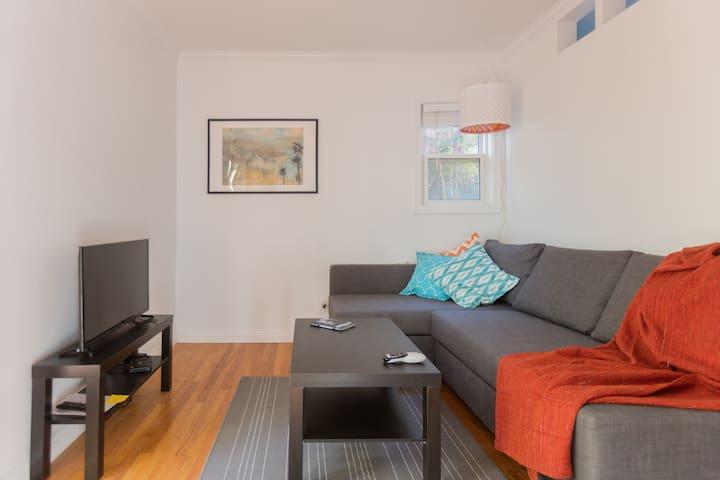 A light-filled living room.