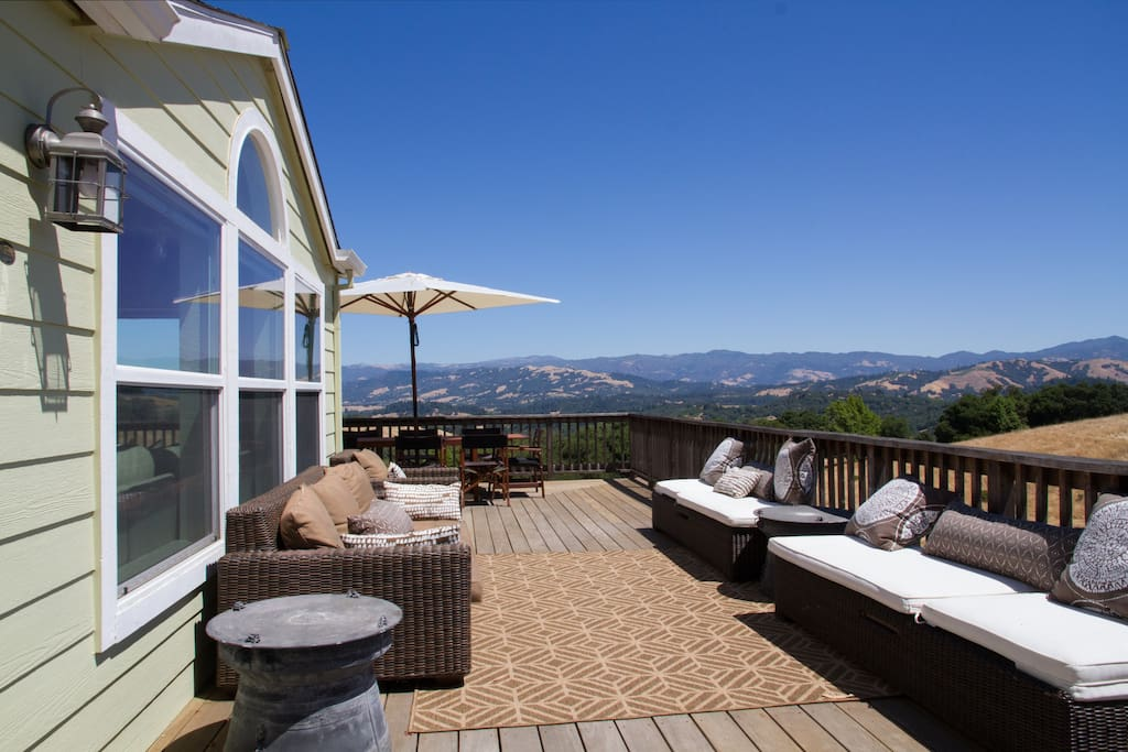 Front deck view looking out on Mayacamas mountains