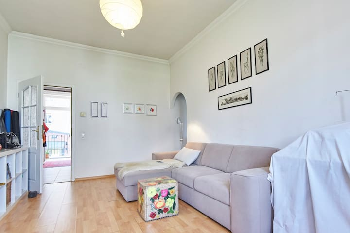 Bright room near the castle living with a designer - Budapest - Condominium
