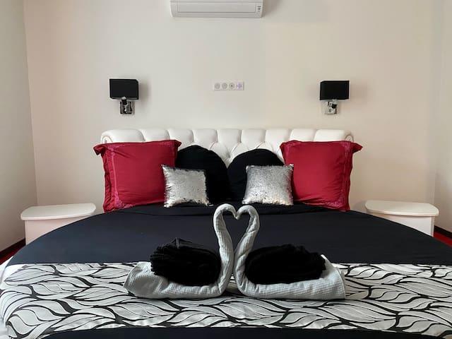 Suite à Epernay  55 m2 avec lit Rond